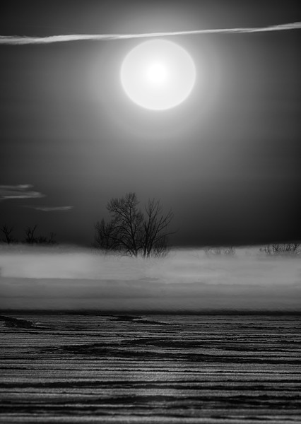 Not the moon in black and white