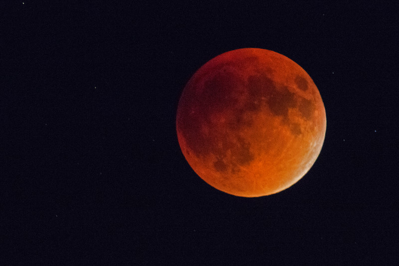 Almost full Eclipse of the Moon from Idaho. 2015