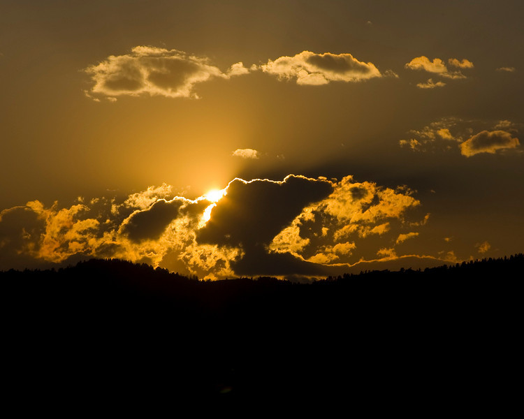 Sunset over Henry's Lake Mountains, Idaho/Montana divide. July 2008