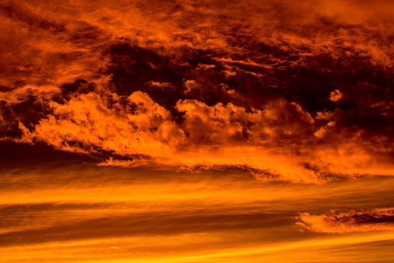 Beautiful sky at sunrise along the  lower Mokelumne River at Sunrise in the Sacramento River Delta region, near Isleton, CA Dec 2012