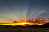 Sunrise from RedRock RV Park with crepuscular rays. Idaho Sep 2013