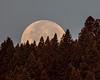 Moonset over Henrys Lake Mountains, near the Idaho/Montana border.