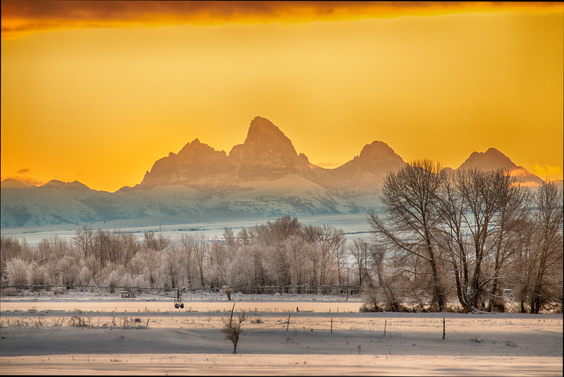 Sunrise over Grand Tetons (from West Side)