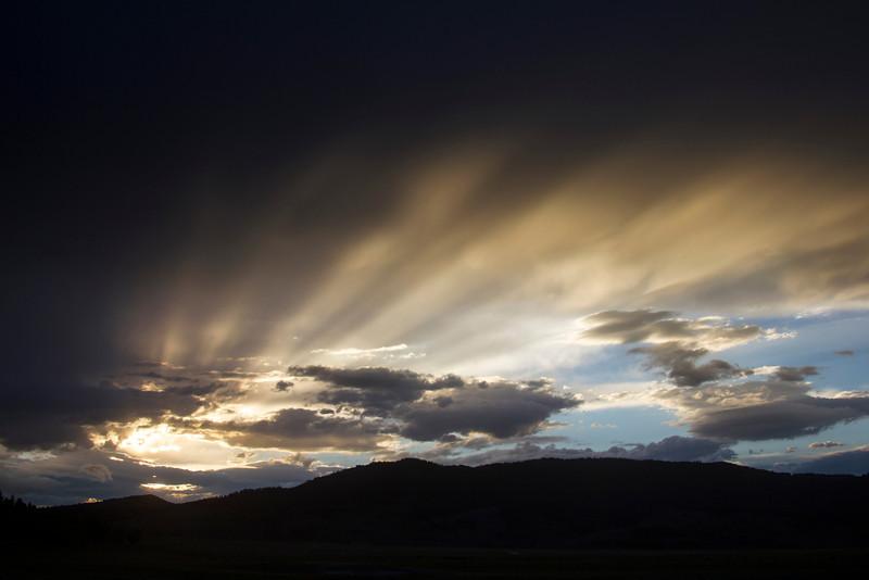 Sun is setting over Montana. Aug 31, 2012