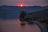 Sunrise over the Yellowstone Plateau and Henry's Lake, Idaho. August 2013  (Smoke from nearby fires)