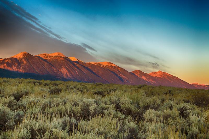 East Centennial Mountains and Sagebrush at Sunrise