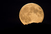 Moon rising over Yellowstone Plateau from RedRock RV Park near Island Park, ID. Sep 30, 2012.