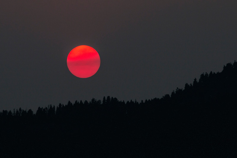 Smoke filtered Sunset, Idaho