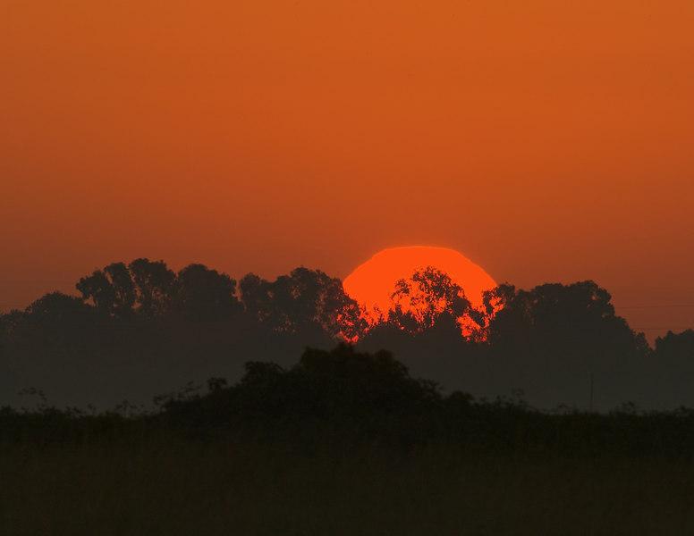 Sunrise on Sacramento Delta