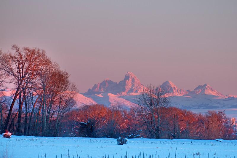 Teton sunset in January, Idaho