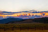 Sunrise over Yellowstone Plateau from RedRock RV Park with exaggerated and saturated colors. Sep 2013