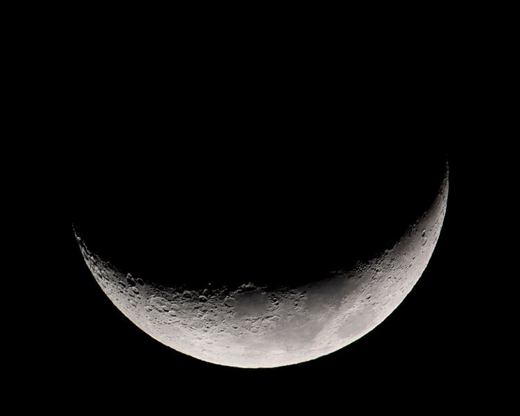 Bucket Moon, quarter moon. Jan 30, 2009, from Menifee, CA.