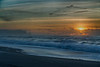 Sunset off beach near Trinidad, CA