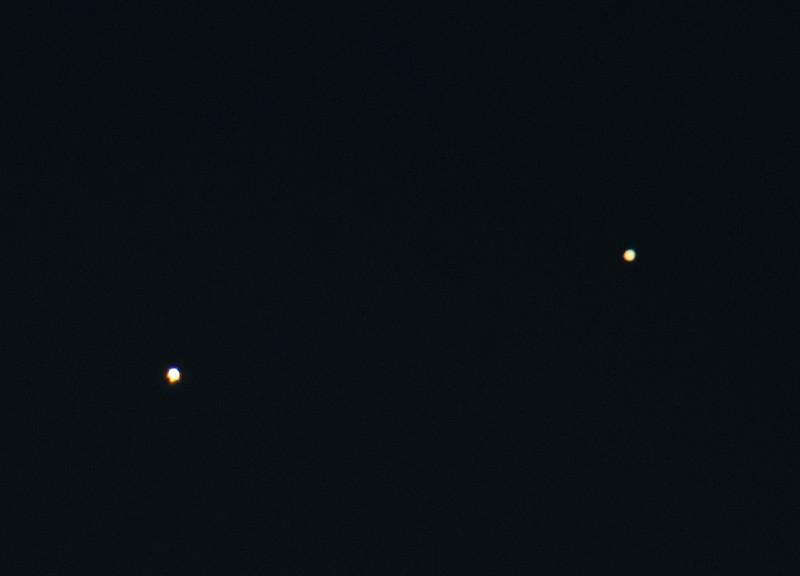 Venus (left) and Jupiter Conjunction
