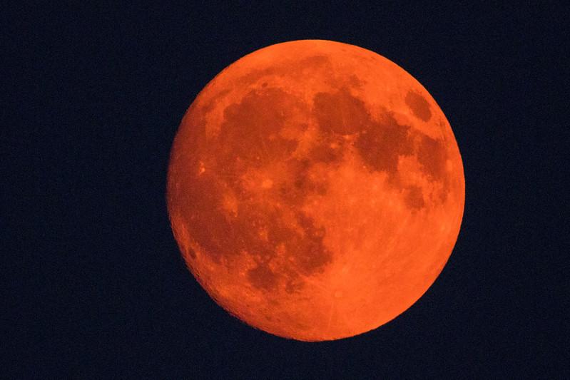 Full Moon through Smoke
