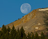 Setting moon over the East Centennial Mountains near Island Park, Idaho.