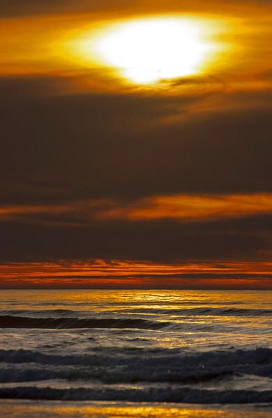 Sunset at McKinleyville, CA Beach