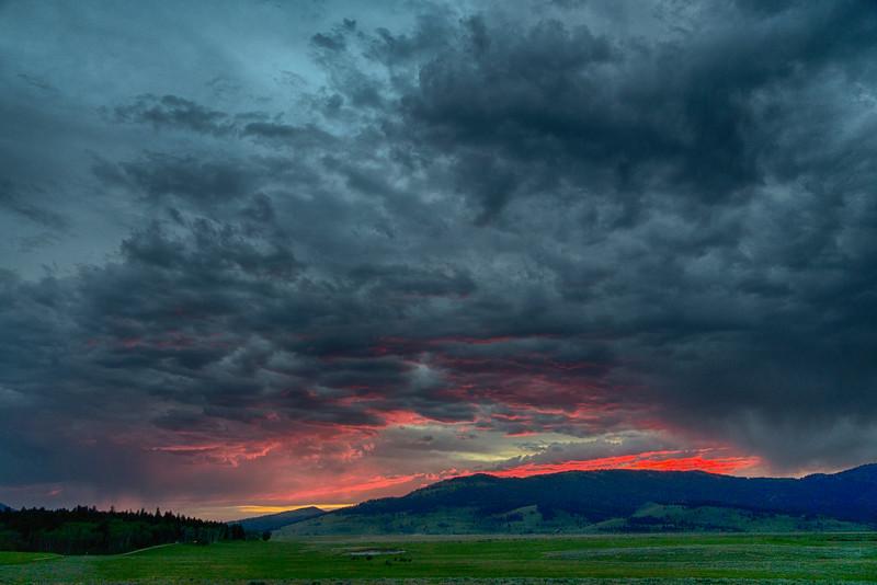 From RedRock RV Park, looking towards Montana