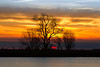 Sunrise along the lower Mokelumne River at Sunrise in the Sacramento River Delta region, near Isleton, CA. Dec 2012