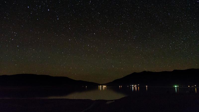Henry's Lake at night