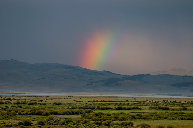 Partial Rainbow over Red Rock Lakes National Wildlife Refuge