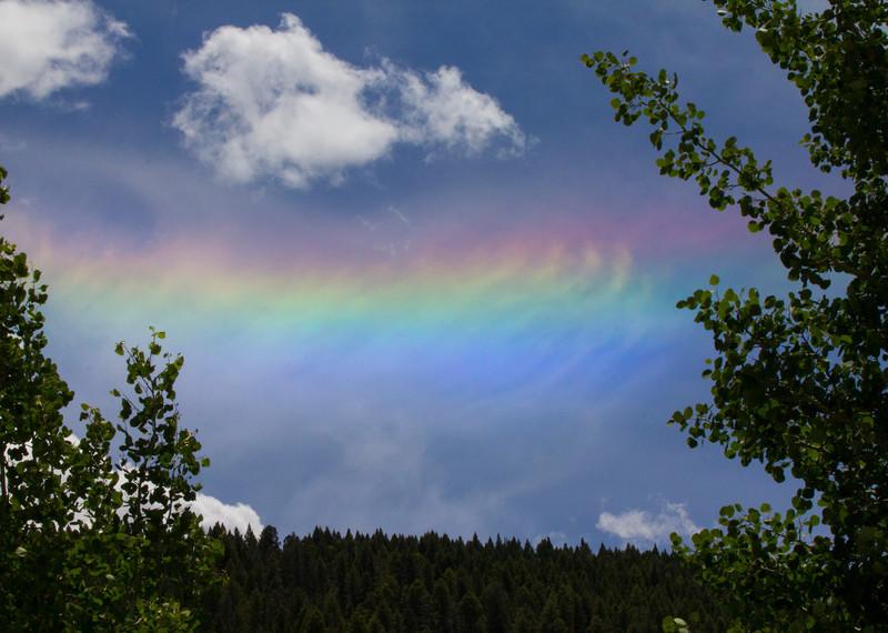 Circumhorizon Arc or Summertime Halo in Island Park, Idaho