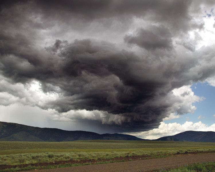 Storm track through Idaho,near Island Park.