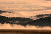 Targhee Pass from Red Rock Road and fog. Sep 2, 2012