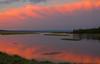 Snake River Bend in Harriman State Park at Sunset