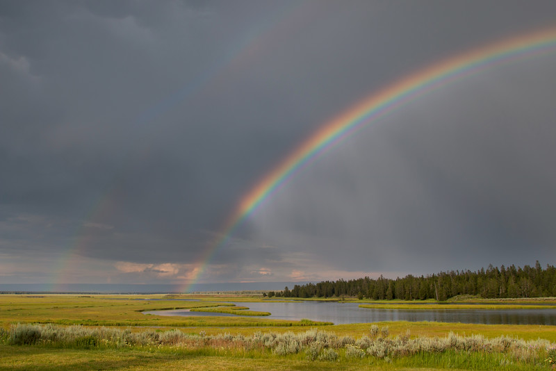 Partial Double Rainbow over Harriman State Park, Idaho