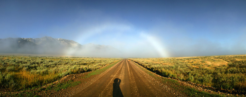 Fogbow centered over South Valley Road in the Centennial Valley and Red Rock Lakes National Wildlife Refuge, Montana. 2006