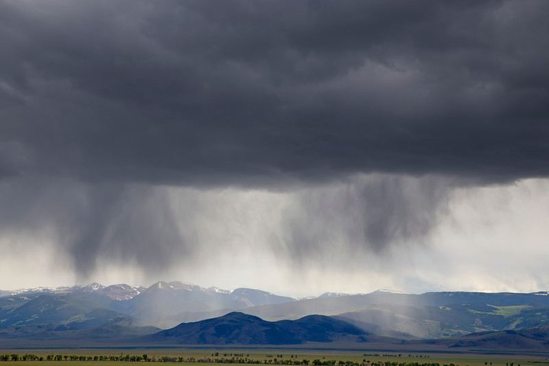 Rain over Madison River Valley, Montana