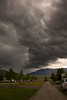 Storm front coming in over Redrock RV Park over Henry's Lake, Idaho. June 2, 2012.