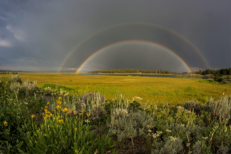 Double Rainbow over Henry's Fork of Snake River