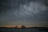 Along the Molkenume River, near Isleton, California, in the Sacramento Delta, a storm approaches. Nov 29, 2012