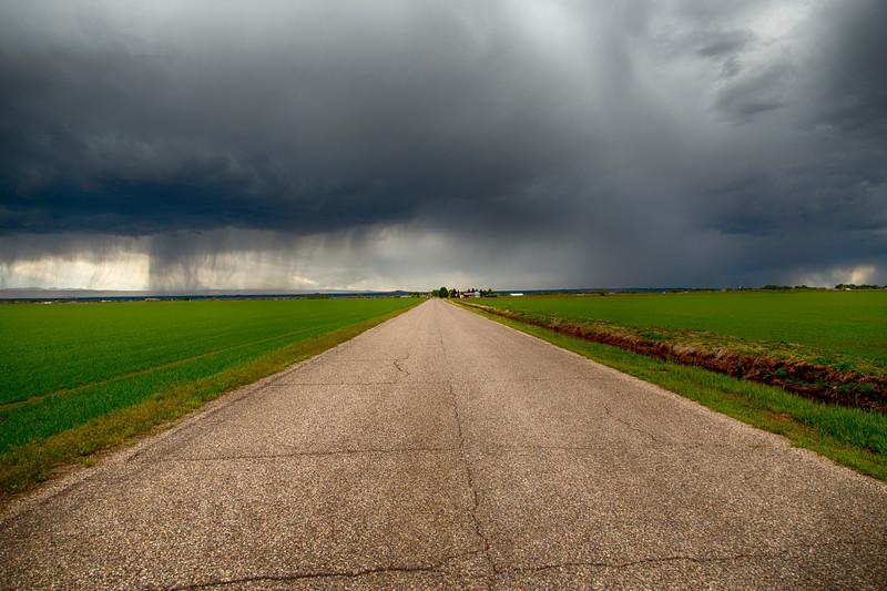 Ashton Idaho storm and road