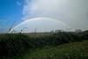 Rainbow over the Sacramento Delta, California. Secondary and Primary bows are present on Nov 30, 2012.