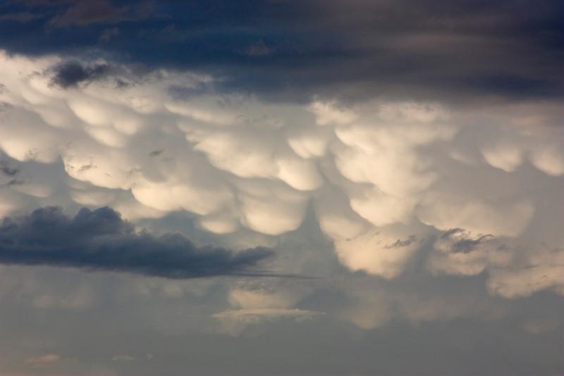 Cumulonimbus mamma clouds over the Idaho/Montana Border. July 22, 2008