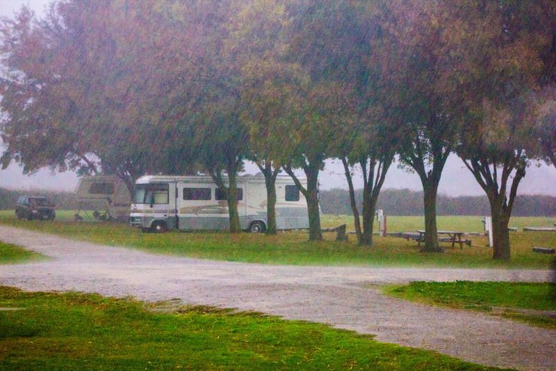 Rain at Delta Shores Vista Resort and Marina. Dec 2, 2012