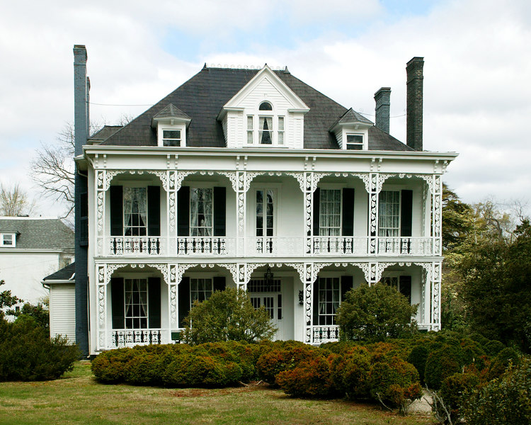 There are many beautiful older homes from the early part of the twentieth century in Salisbury, North Carolina. 2004.
