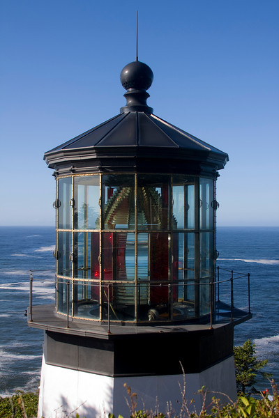 Lighthouse at Cape Meares on Oregon Coast. November 1, 2009 Cape Meares State Scenic Viewpoint is located 10 miles west of Tillamook, Oregon on the north end of the beautiful Three Capes Scenic Loop.