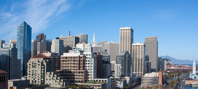 San Francisco Skyline from Bridge