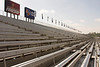 Aluminum Stadium Seats at the Pomona California raceway make for an interesting visual effect.