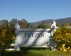Fetzer Vineyards (Winery) sign in Northern California surrounded by grape vines. Nov 2010.