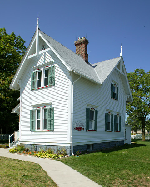 Lighthouse keeper's home at Marblehead, Ohio Lighthouse on Lake Erie. The home dates from 1880.