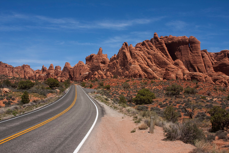 Road in Arches National Park. April 2010