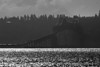 Astoria (OR) bridge over Columbia River. In Black and White. Oct 2012