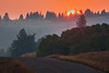 Red Rock Road near Island Park, Idaho at Sunrise. Sep 2012