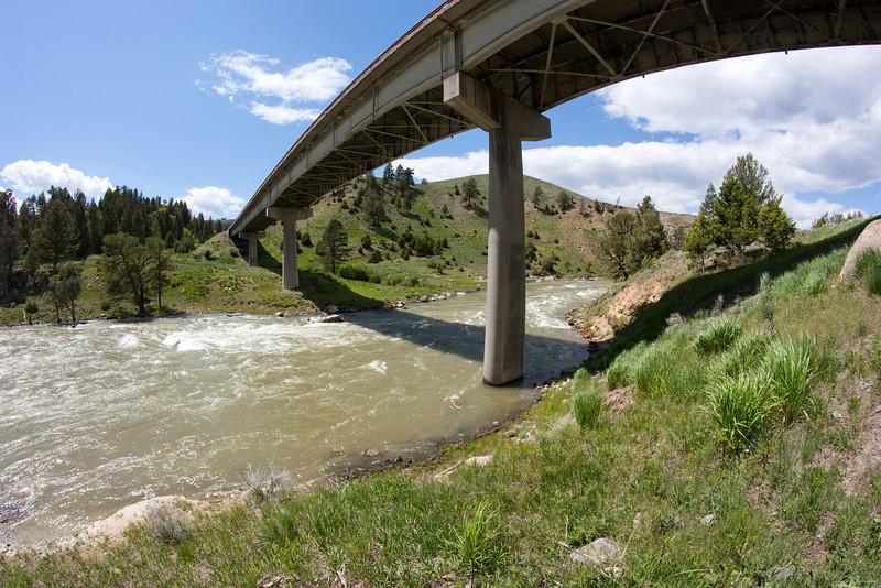 Yellowstone Bridge and River