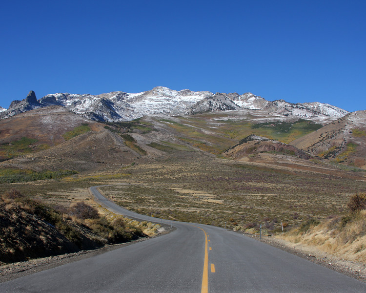 Angel Lake Road in northern Ruby Mountains, near Wells, Nevada. September 30, 2007.